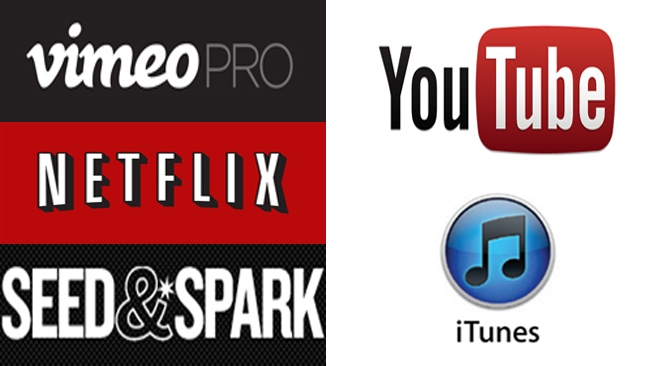 YouTube, Vimeo, Seed & Spark, Netflix, iTunes