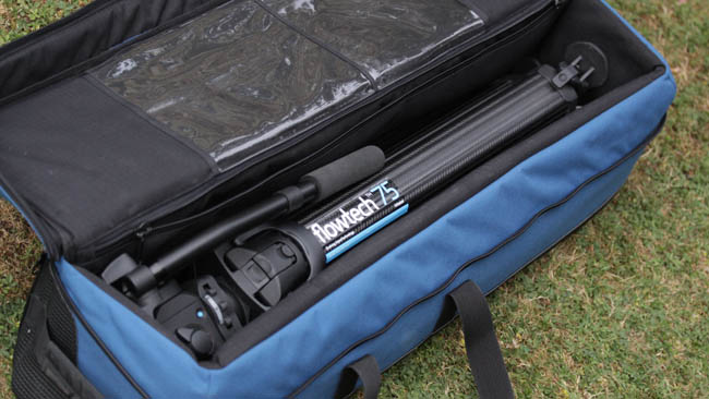 As a double-extension tripod, the  Flowtech 75 collapses down to a very small package when stowed.JPG