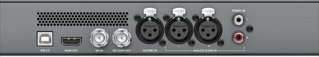 BMD audio Monitor Rear