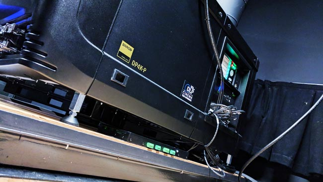 Barco 4K digital cinema projector  serving the facility's grading suite.jpg