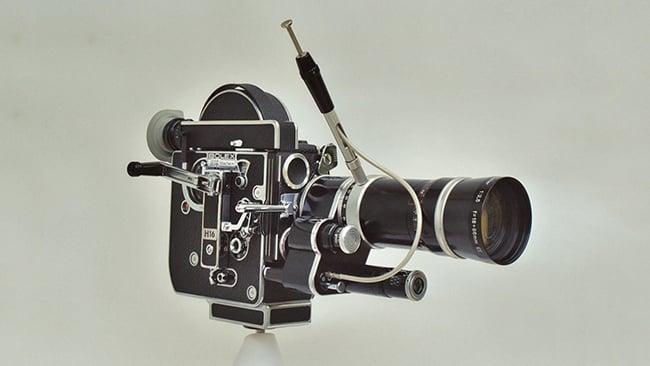 The later Bolex H16 Reflex film camera