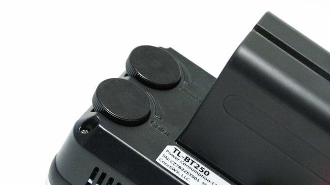 Brightness and colour temperature controls