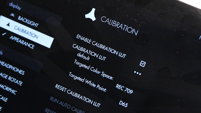 Calibration is an option, though with the backlight maxed out it's intended to be visible rather than accurate (though the colours look fine).JPG
