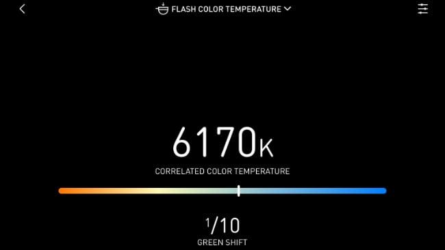 Flash colour temperature measurement