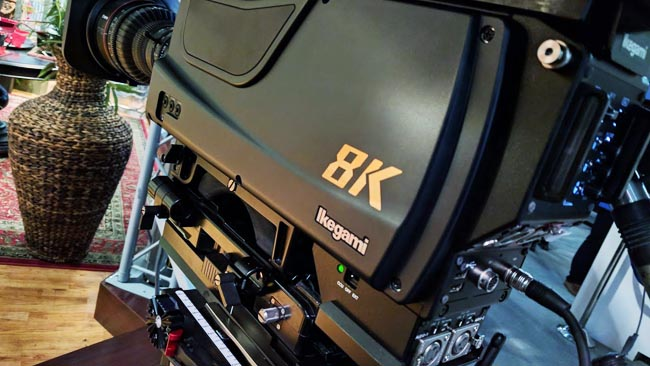 Ikegami have also built an 8K  broadcast camera - though again, it uses a sensor similar in size to the  super-35mm film frame. Notice the Canon CN7x17 zoom
