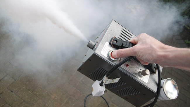 Le Maitre Mini Mist operating off  mains