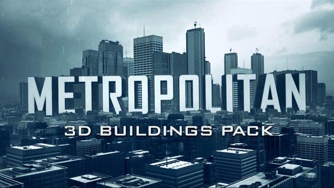 Metropolitan 3D buildings pack
