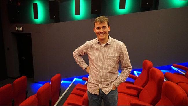 Nick Watson in Dolby screening room