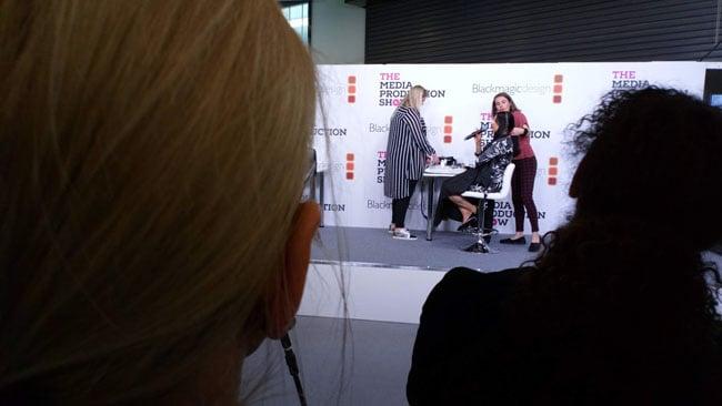 On-stage makeup demo