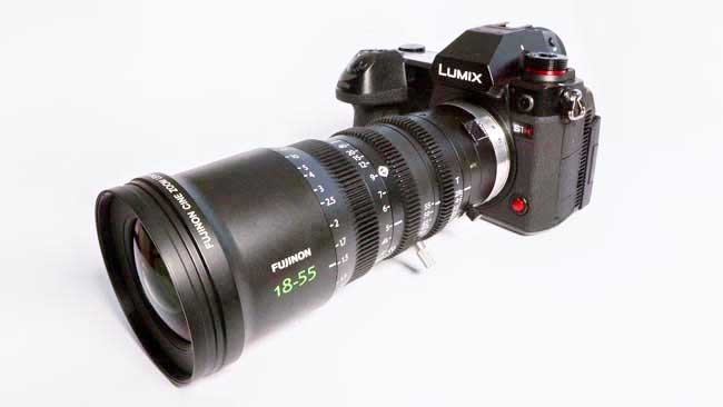 Panasonic S1H with Fujinon MK18-55mm lens, with MTF's L mount conversion.jpg