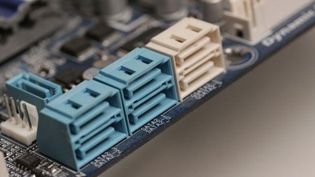 SATA connectors for hard disks