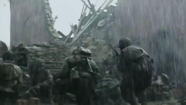 Saving Private Ryan. World War 2 looks harsher in the rain