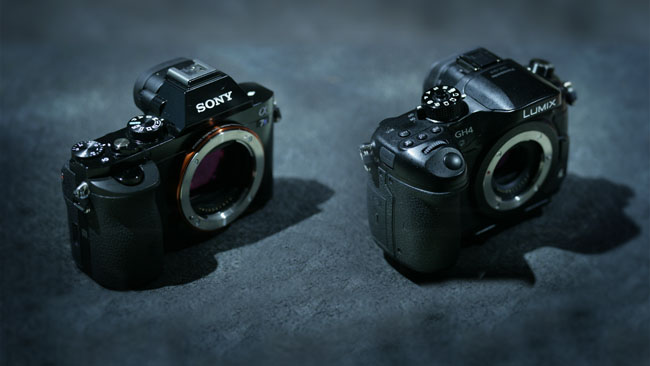 Sony A7S and Panasonic GH4 without lenses.jpg