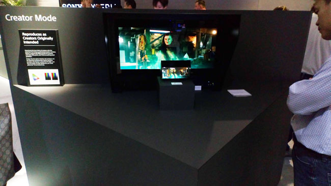 Sony calls it Creator Mode, here shown at IFA 2019.jpg