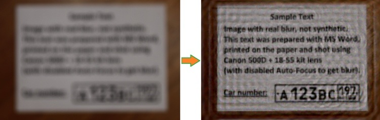 Text in and out of focus