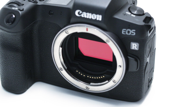 The EOS R's full-frame sensor is  only a short distance behind its mount, making for easy adaption to other  lenses.JPG
