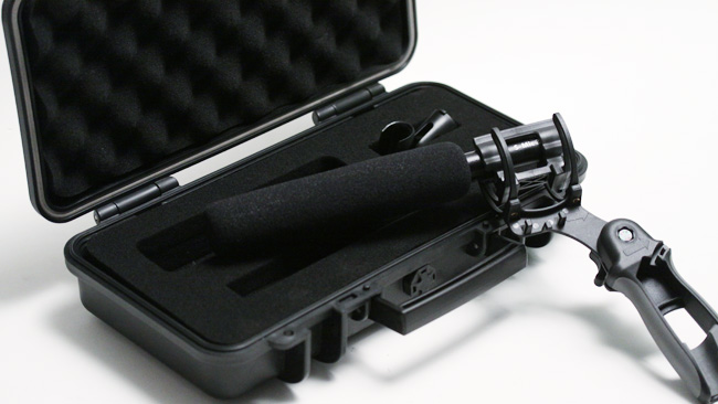 The S-mic 2 is supplied in a small  hard case, though for most location people that'll probably just be the  shipping container