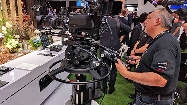 The Sony UHC-8300 was first shown  at IBC last year, and is possibly the best attempt at creating an 8K  broadcast camera that crews will find familiar