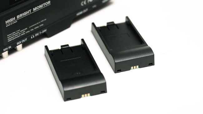 The interchangeable battery plate system means you can use either Canon or Sony batteries