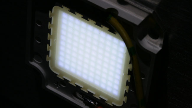 The_largest_single-device_LED_arrays_are_currently_at_a_few_hundred_watts_like_this_100W_Yuji_module._Notice_the_10x10_grid_of_one-watt_junctions.JPG