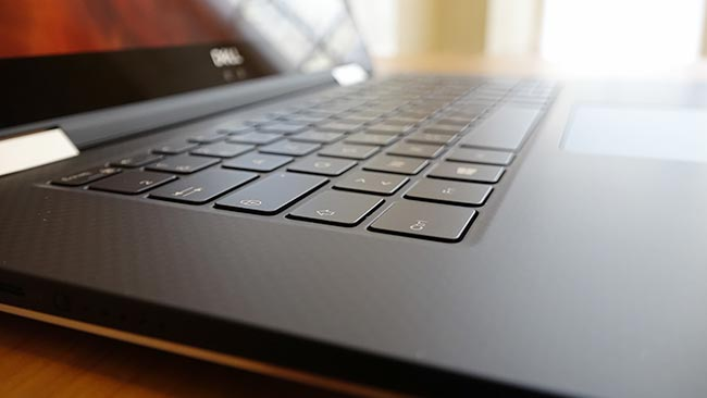 The low-profile keyboard is part of what makes this a thin and light workstation.jpg