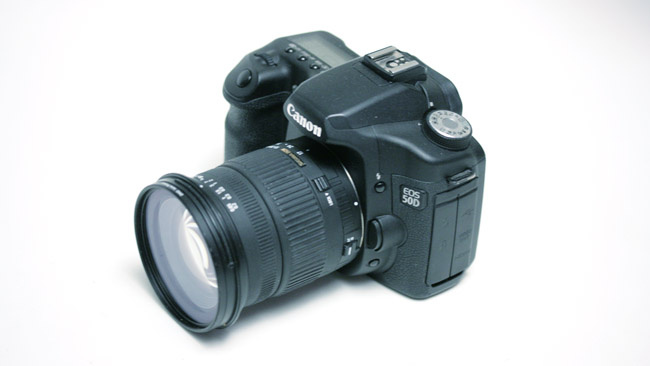 The mighty Canon EOS-50D, possibly  the cheapest route to raw video
