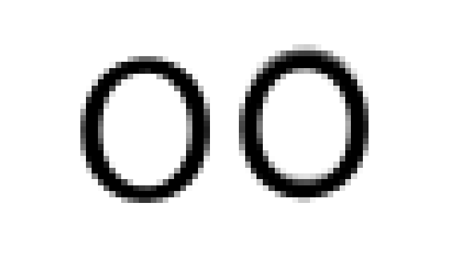 The right character is one half pixel higher than the left, and appears very slightly thickened in its horizontal strokes. This can cause jitteriness in moving titles