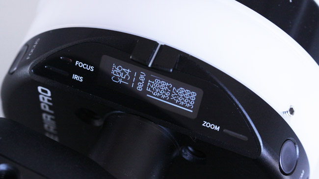The status display reads out in encoder counts, though the cellphone app will show distances.JPG