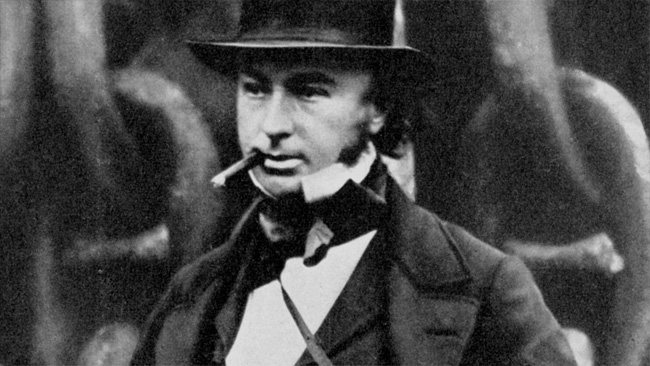 This man revels in the name Isambard Kingdom, which is fantastic enough. This 1857 photo - very much orthochromatic - was taken by Robert Howlett for the Illustrated Times.jpg