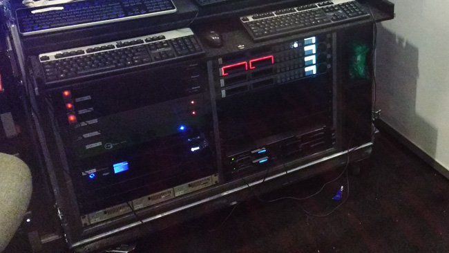 This might well be backup, because  those two red rectangles are two different drive bays on a Blackmagic  Hyperdeck, which both have SSDs in them. Two is better than one