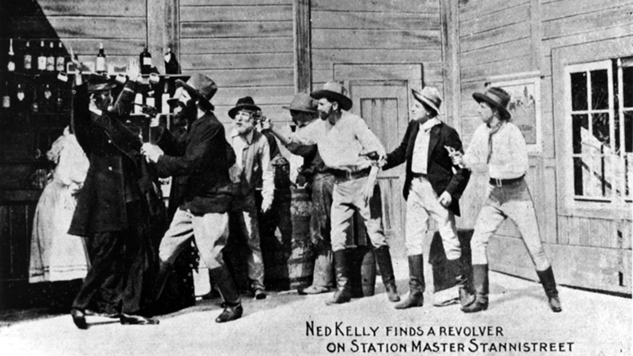 A still from The Story of the Kelly Gang