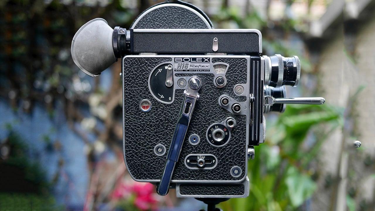 The Bolex H16 film camera