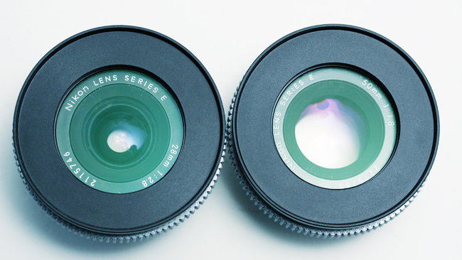 f-number is the ratio between the  focal length and the entrance pupil, which basically means the hole through  the lens as viewed through the front elments