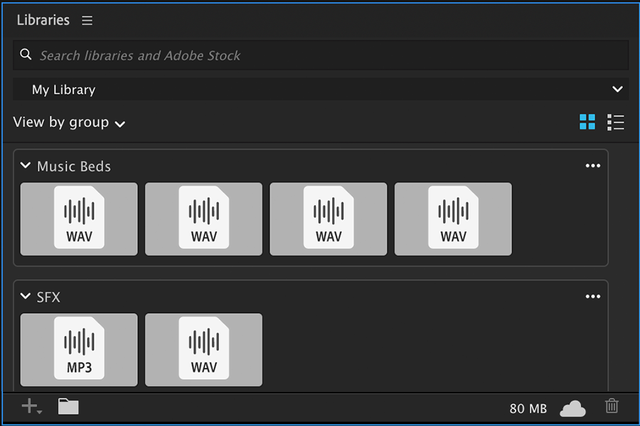 Premiere Pro Audio File Support In Libraries