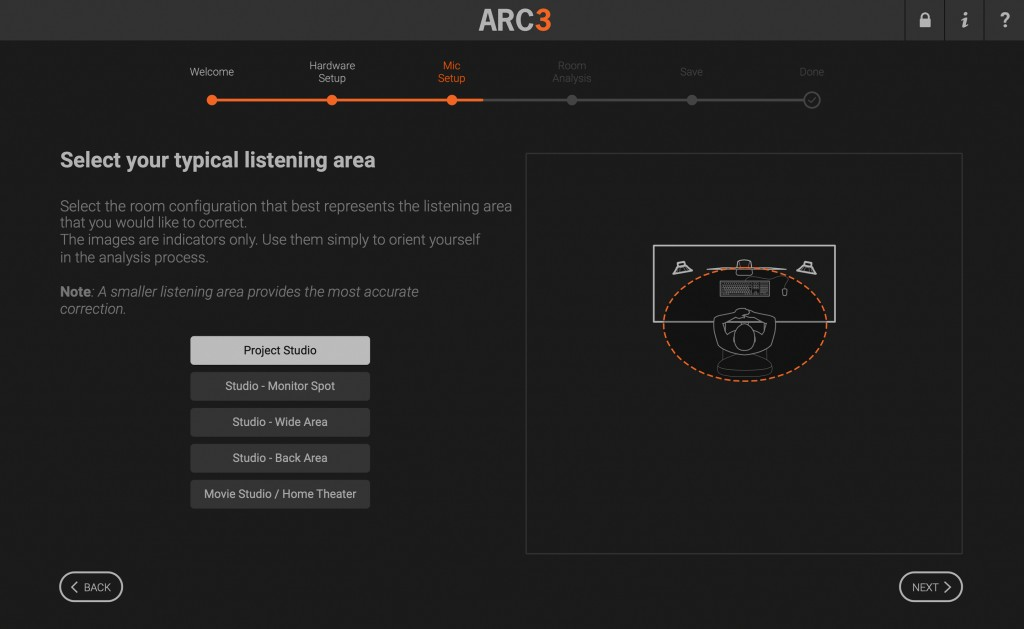 ARC 3 Select Your Typical Listening Area