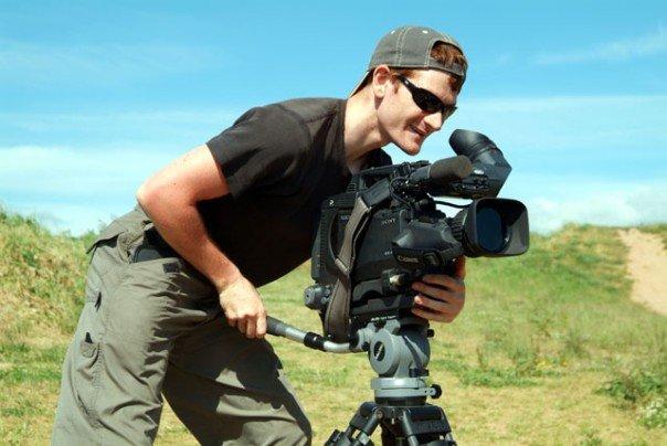 Simon Wyndham with camera.