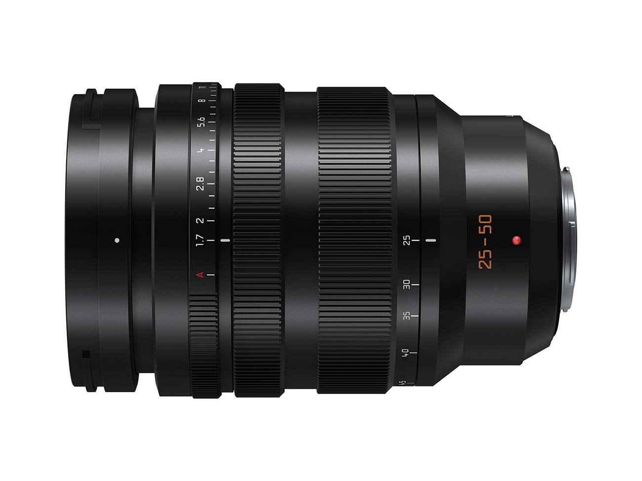 The forthcoming LEICA DG 25-50mm f/1.7 MFT lens. Image: Panasonic.