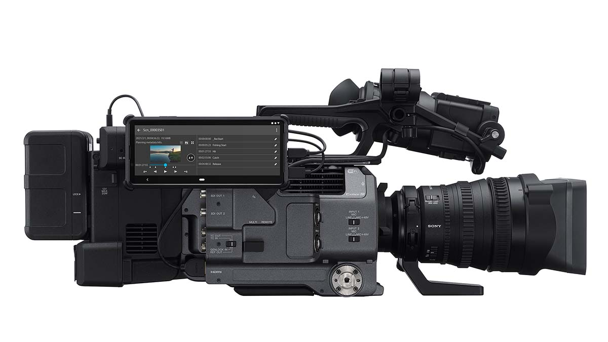 Sony FX9 with the C3P Portal app