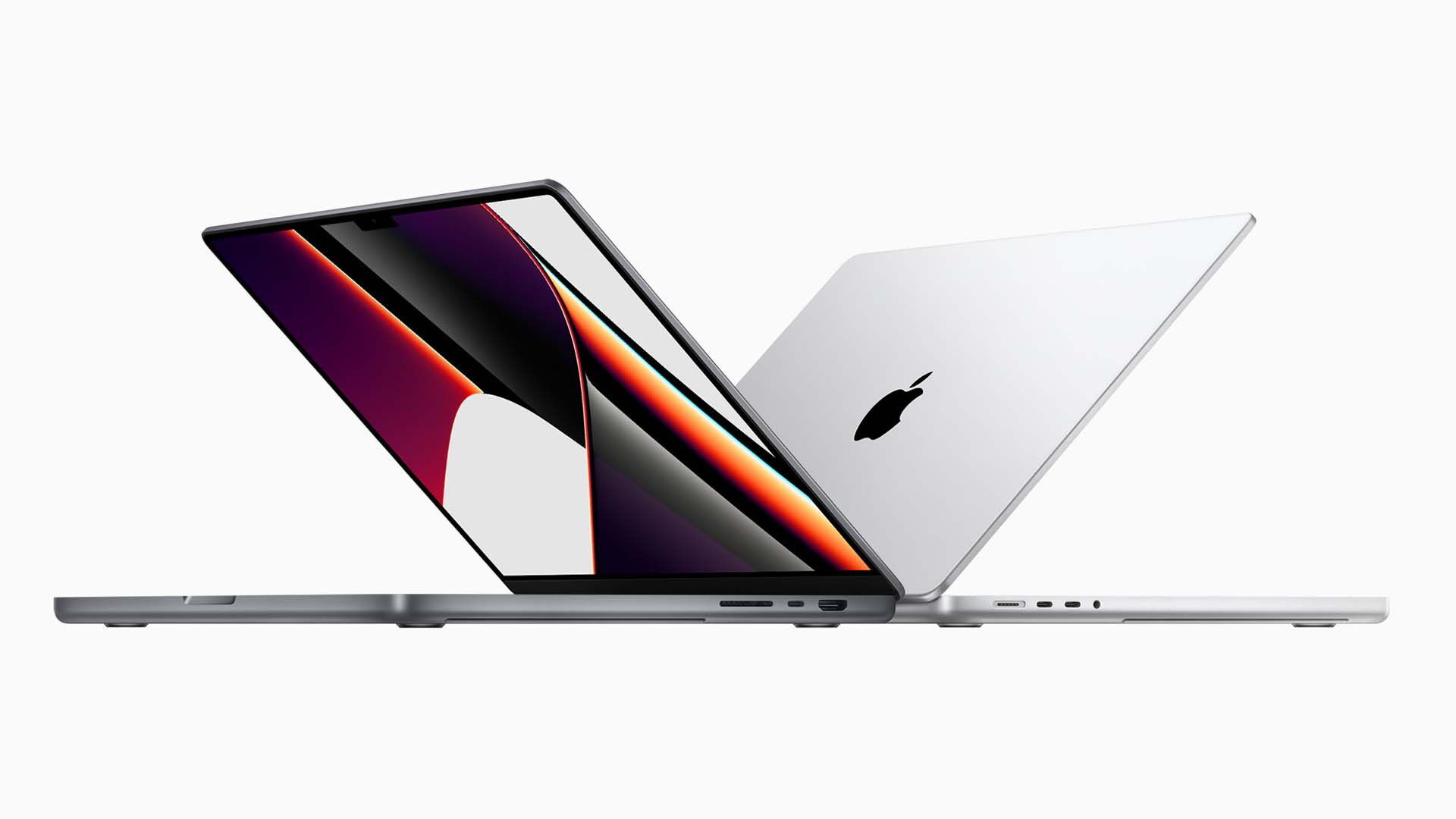 Apple's new M1 Pro and M1 Max powered laptops. Image: Apple.