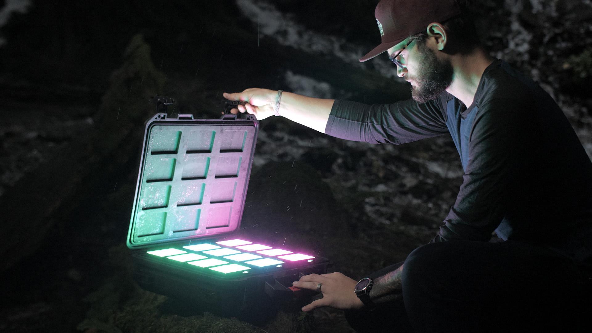 The Aputure MC-12 multi-light kit. Image: Aputure.