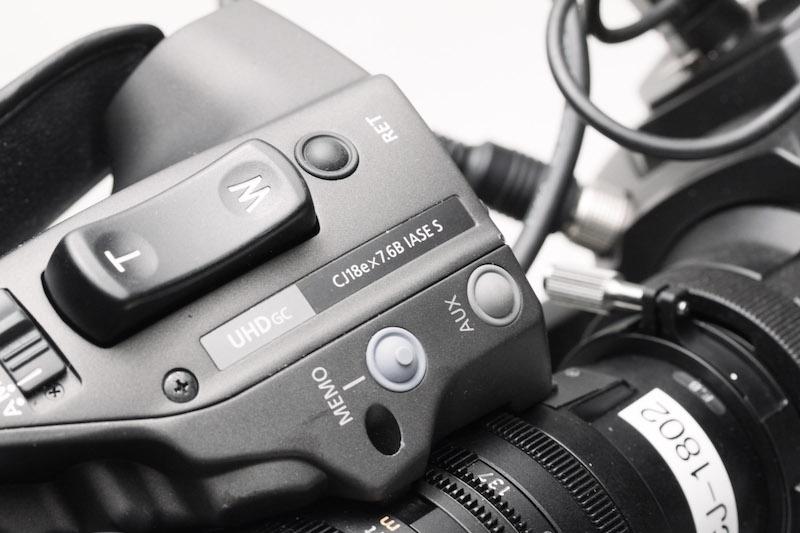 Zoom rocker on a B4 ENG lens.