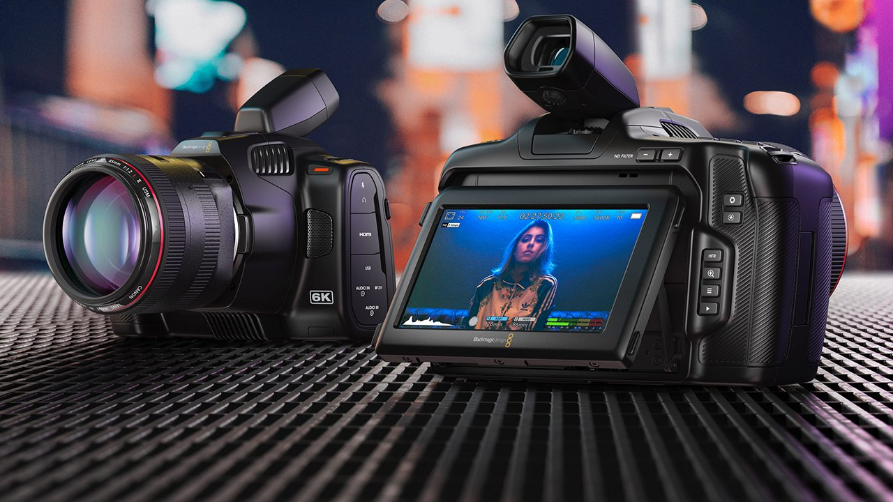 Blackmagic Pocket Cinema Camera 6K Pro. Image: Blackmagic Design.