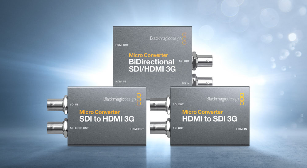 Blackmagic Design 3G Micro Converters. Image: Blackmagic Design.