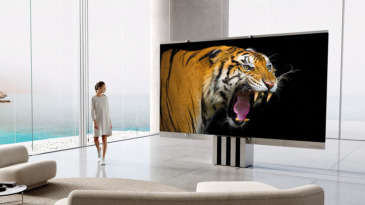 The C-Seed M1 folding television set. Image: C-Ceed.