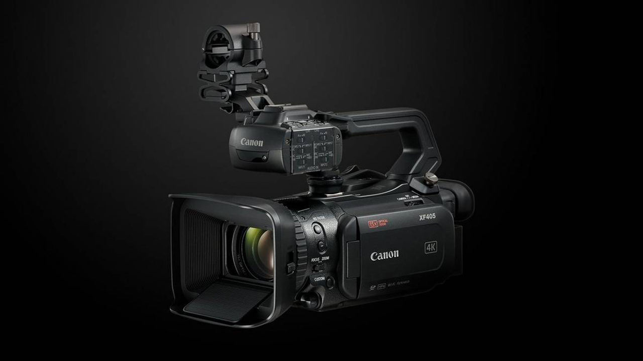 The Canon XF405 is among the camcorders receiving advanced new features. Image: Canon.