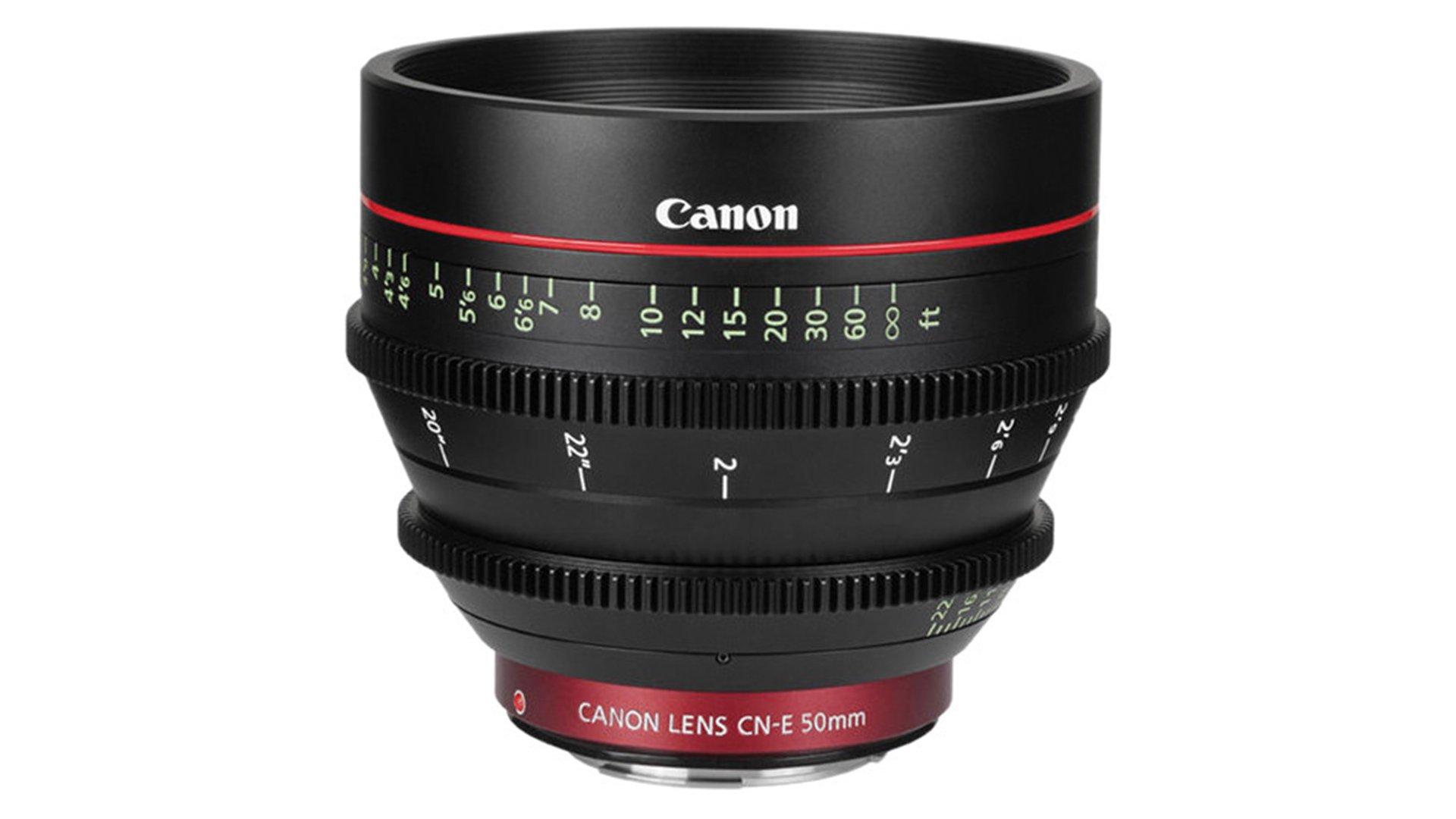 Canon CN-E 50mm T1.3 L F Cine Lens. Image Canon.