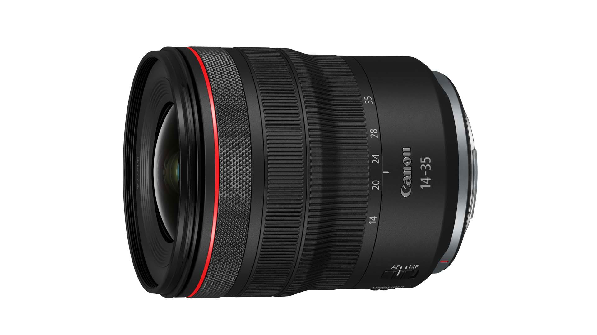 The RF14-35mm F4 L IS USM lens. Image: Canon.