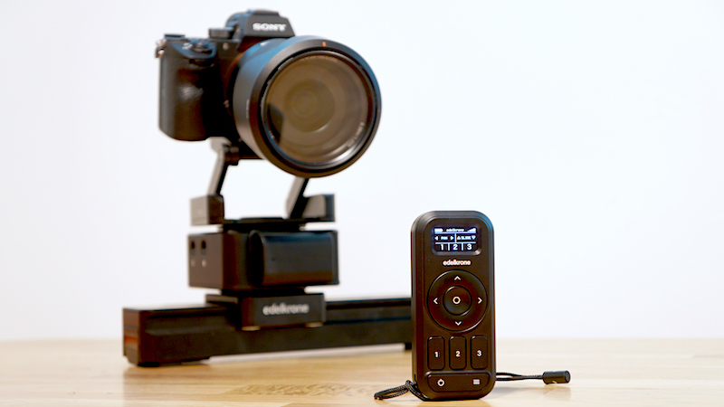 Edelkrone Controller with mirrorless camera