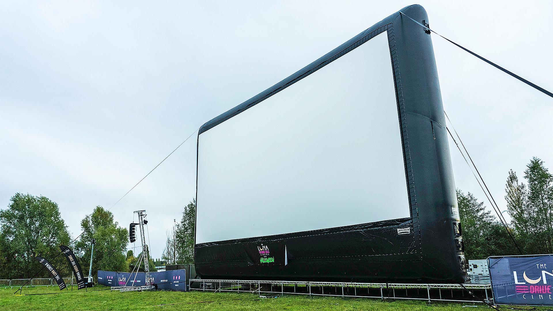 Drive-in cinema in the UK.