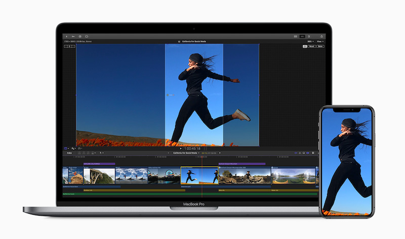The latest FCP X update can intelligently crop for various social media sites. Image Apple.